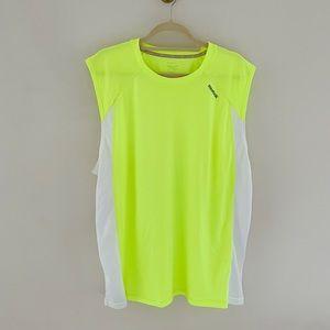 Reebok Neon Yellow Sleeveless Athletic Top XL E8